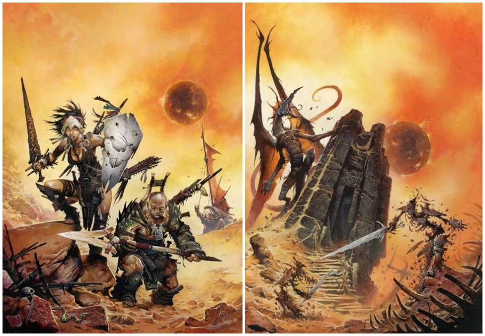 4E D&D Dark Sun Campaign Setting Creature Catalog Wayne Reynolds