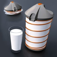 Collapsible Milk Jug Keeps It Fresh