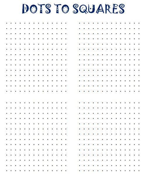 Printable Dots to Squares