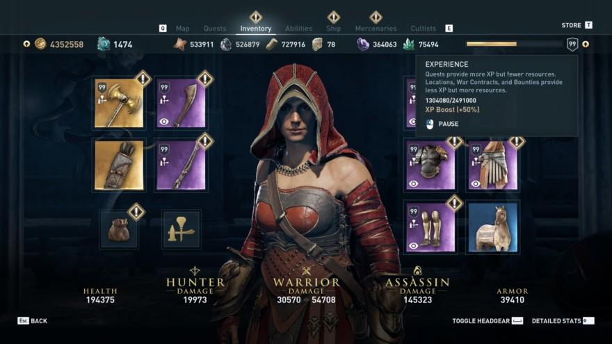 Assasins Creed Odyssey Level Cap
