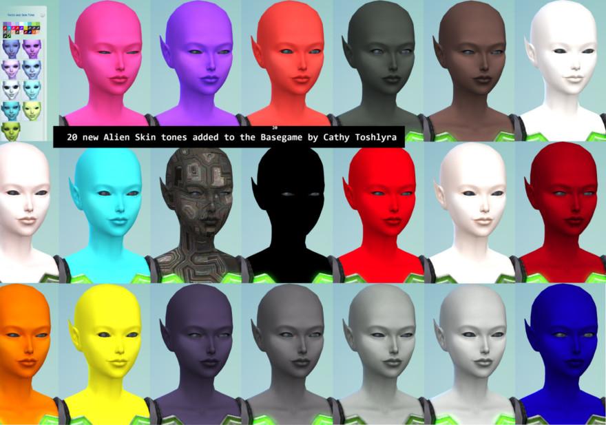 Base Game Alien Skintones