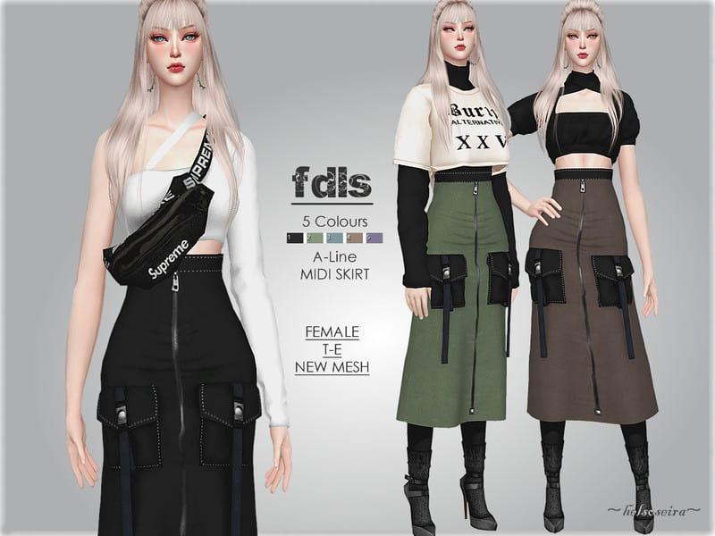 Fdls – High Rise Skirt