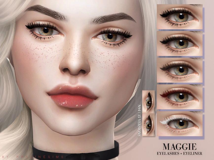 Maggie Eyelashes And Eyeliner №94