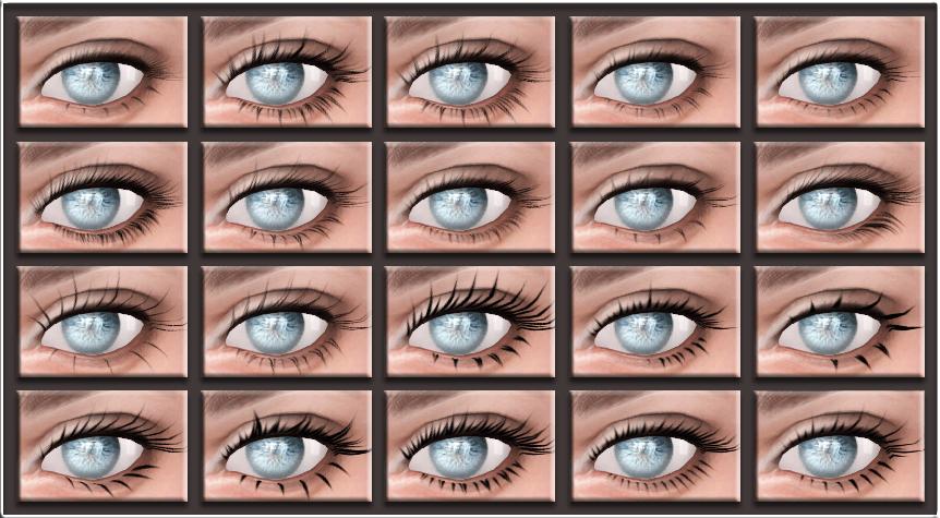 Ts4 18 New Mesh Eyelashes By Glaza