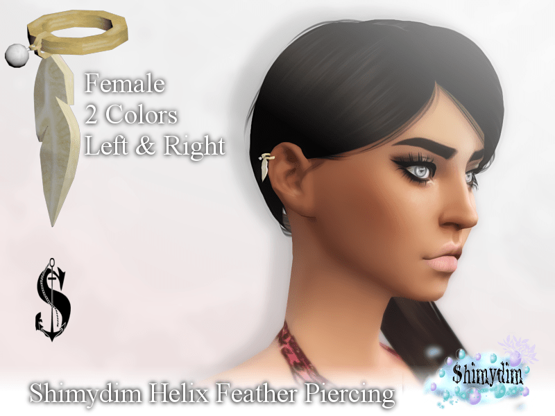 Helix Feather Piercing