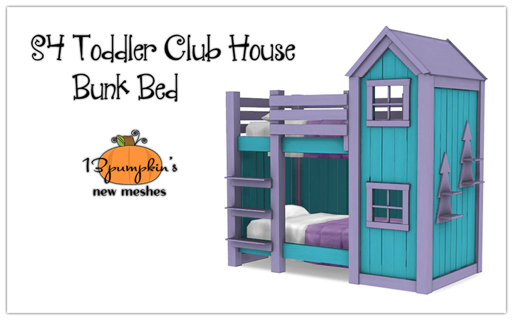 Toddler Clubhouse Bunk Bed