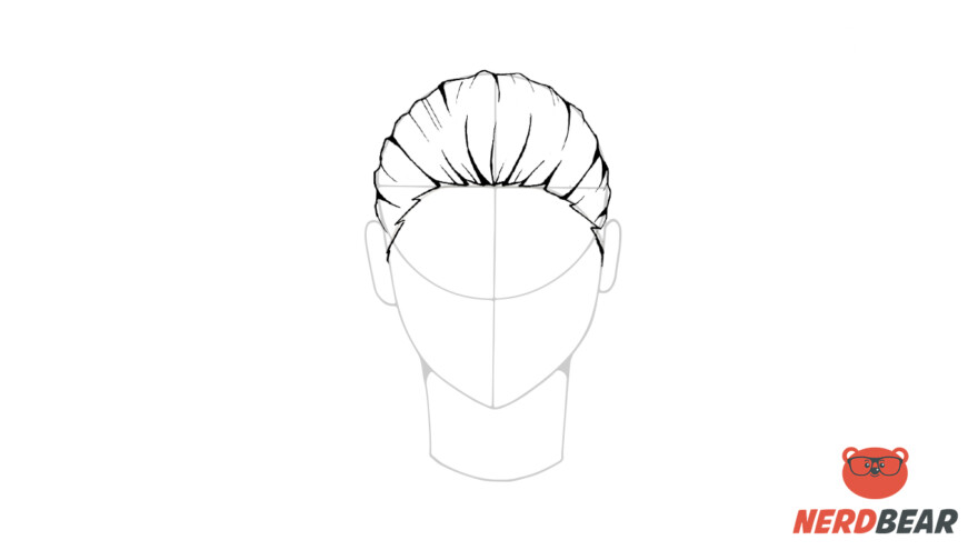 How To Draw Male Anime Hair Slicked Back 5