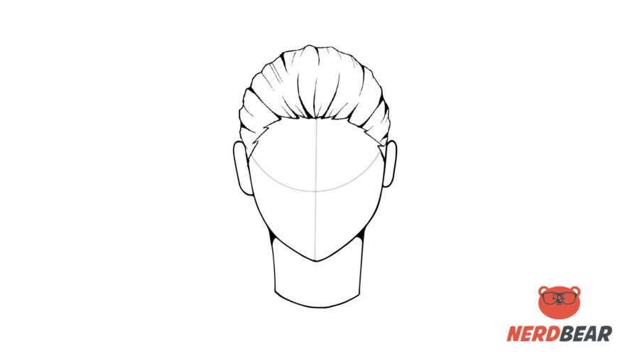 How To Draw Male Anime Hair Slicked Back 6
