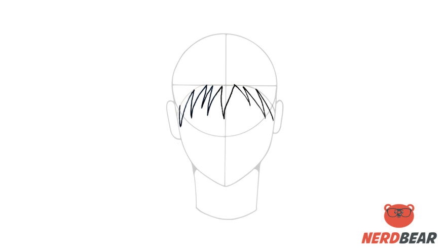 How To Draw Male Anime Hair Spiky Hair 2