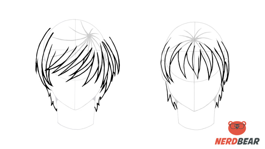 How To Draw Male Anime Hair Straight 4