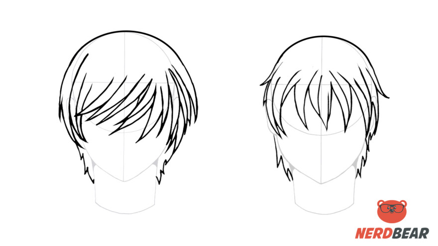 How To Draw Male Anime Hair Straight 5