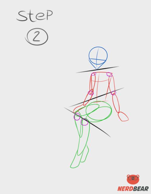 Sitting Pose Anime Girl 2