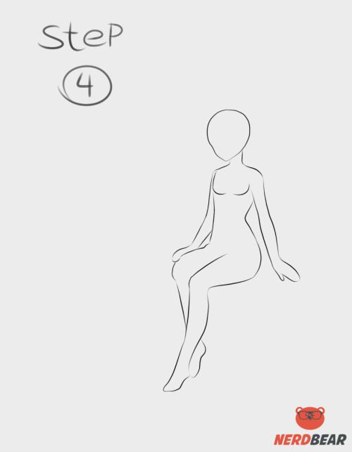 Sitting Pose Anime Girl 4