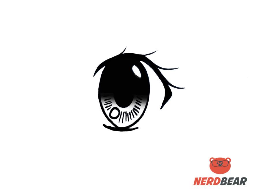 How To Draw Big Feminine Anime Eyes 7