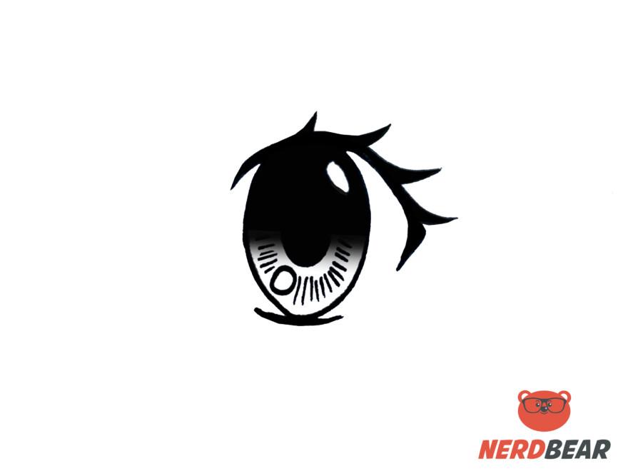 How To Draw Big Feminine Anime Eyes 9