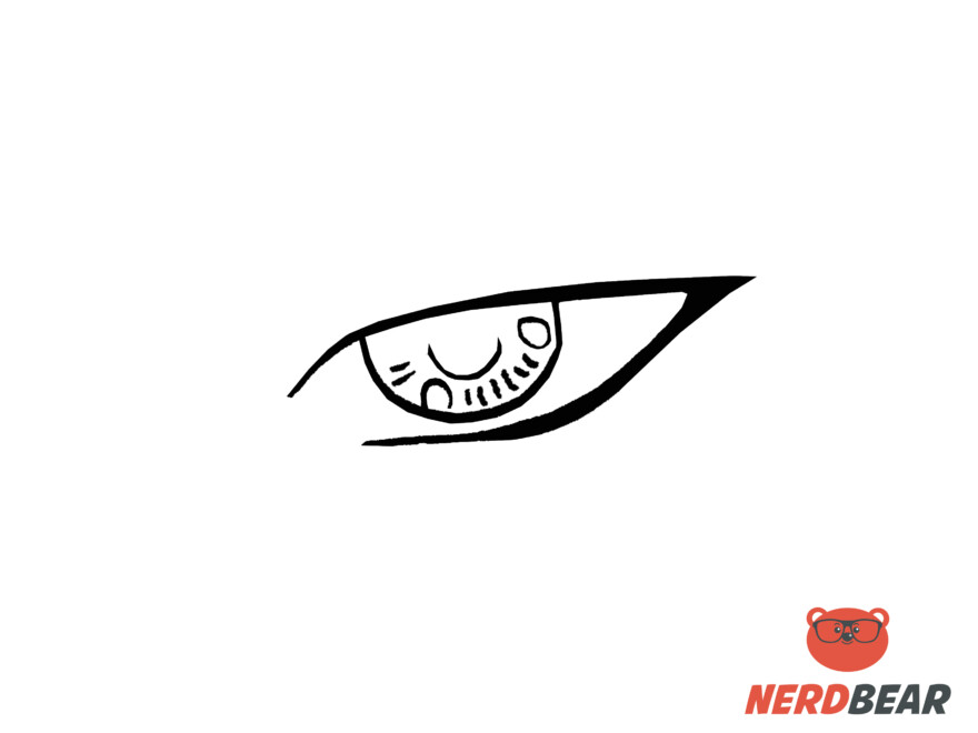 How To Draw Sharp Masculine Anime Eyes 4