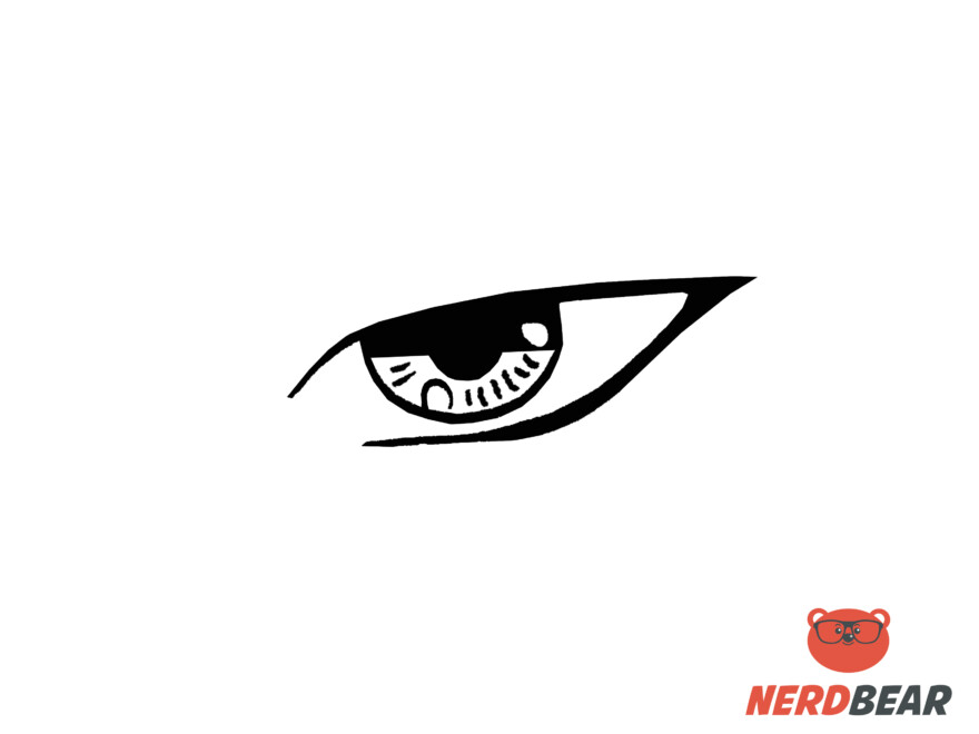How To Draw Sharp Masculine Anime Eyes 5