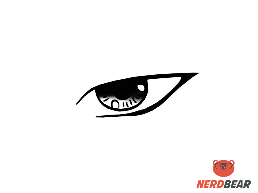 How To Draw Sharp Masculine Anime Eyes 6
