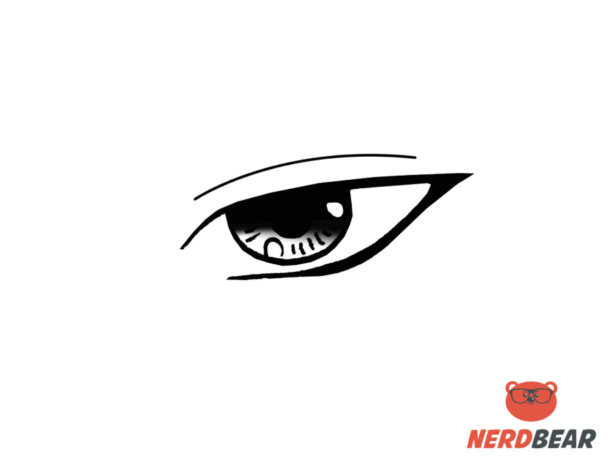 How To Draw Sharp Masculine Anime Eyes 7