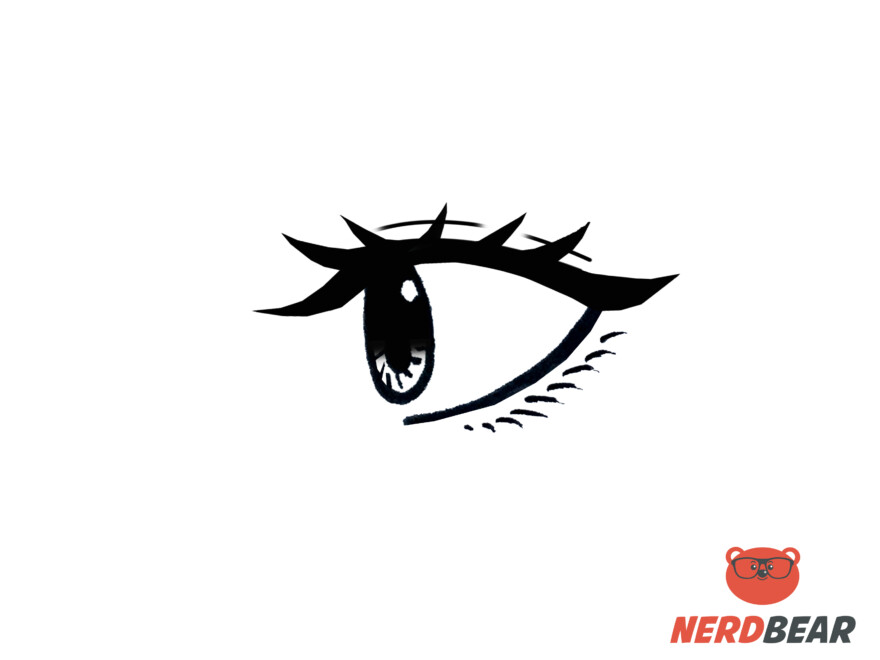 How To Draw Side Profile Anime Eyes 9