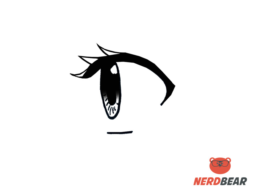 How To Draw Side Profile For Big Anime Eyes 7