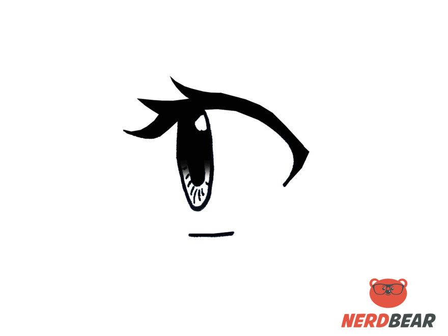 How To Draw Side Profile For Big Anime Eyes 8