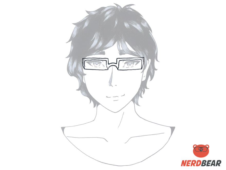 How To Draw Square Anime Glasses 4