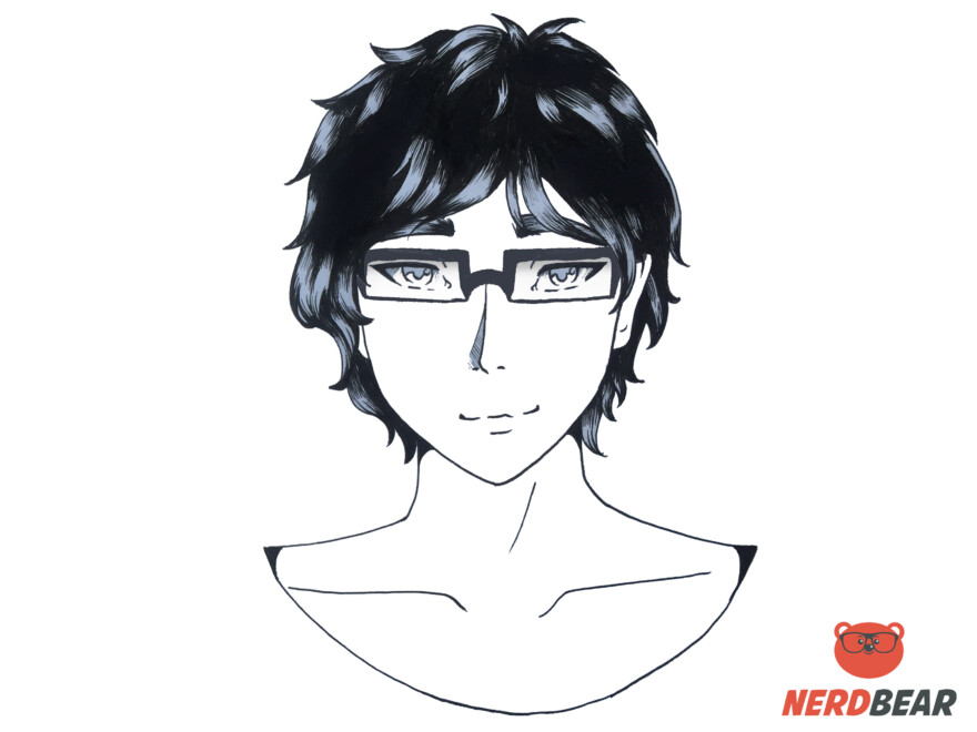 How To Draw Square Anime Glasses 7