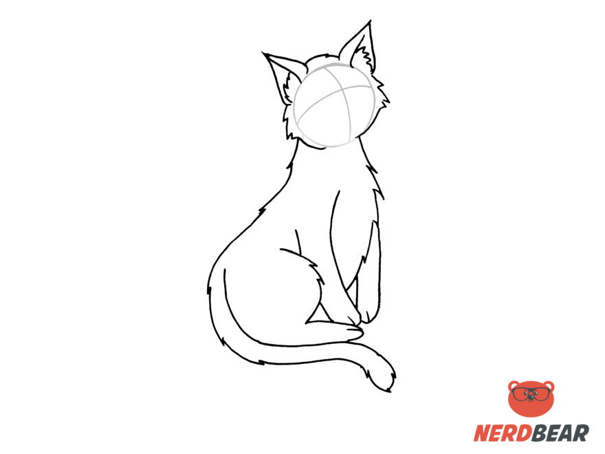 How To Draw A Sitting Anime Cat 8