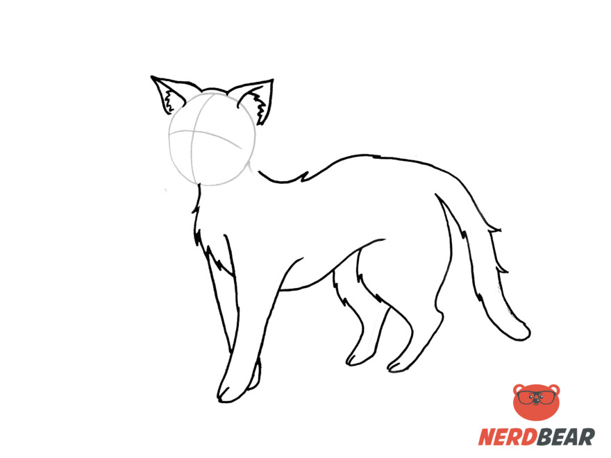 How To Draw A Standing Anime Cat 12