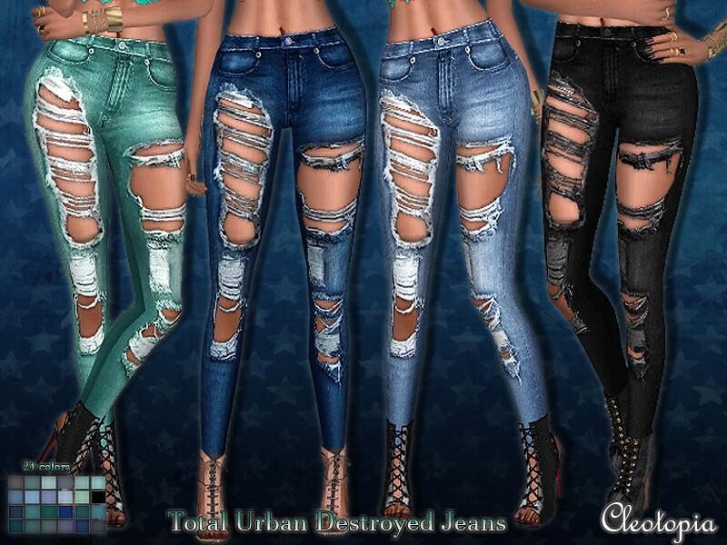 Total Urban Destroyed Jeans – Set 53