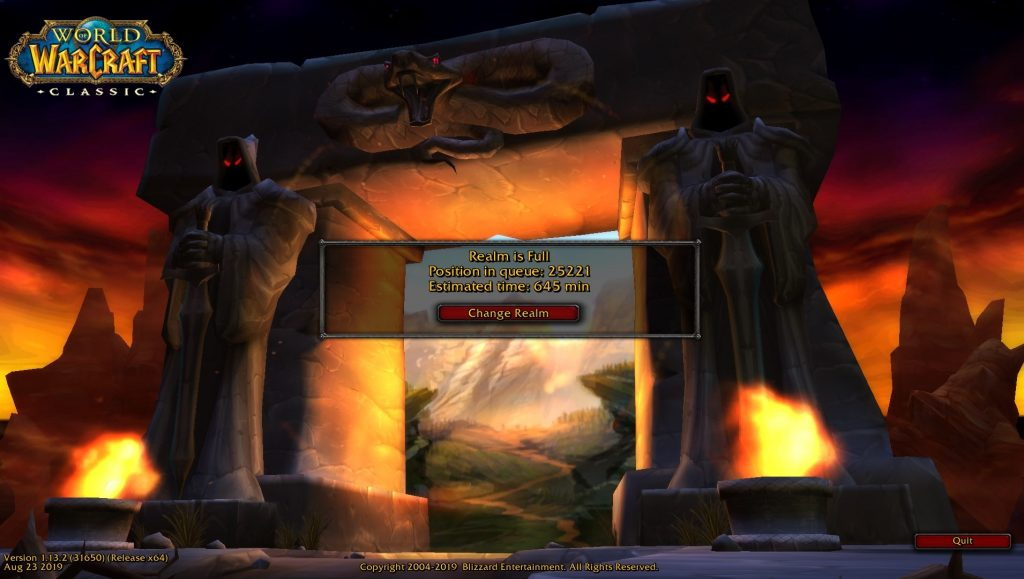 World of Warcraft Classic is as close to vanilla WoW as possible, including the queue times!
