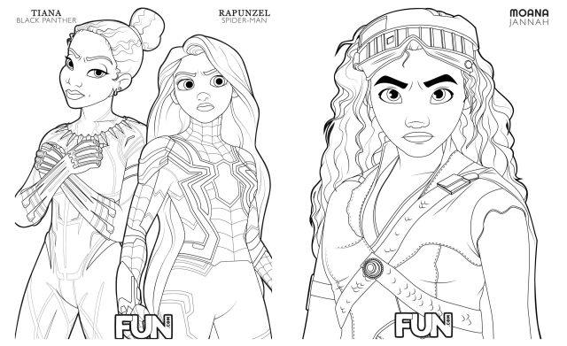 Disney Mash-Up Coloring Pages Are a Great Stress Reliever