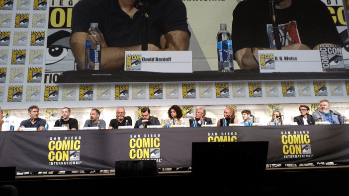 "Nerdeek Life Game-of-Thrones-Cast-SDCC-2017-Panel- Game of Thrones: ""Let's finish with a high kicking number!"" Conventions"