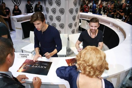 Cameron Cuffe and Cameron Welsh signing at SDCC