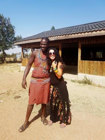 Masai yerlisi Ken ve ben