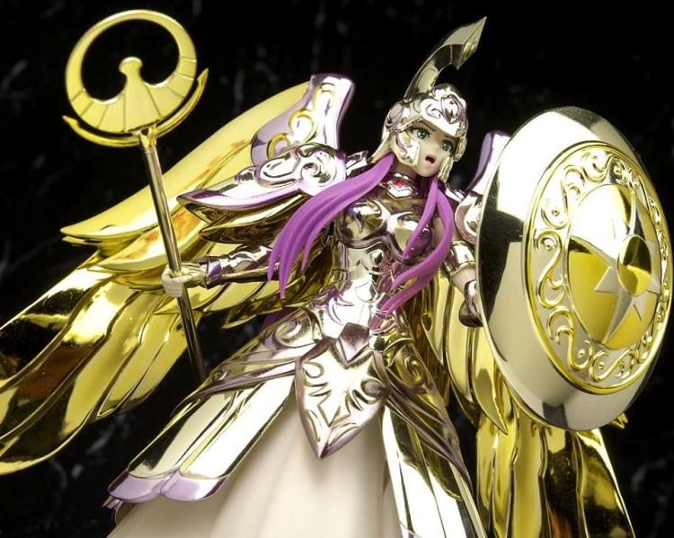 Action figure di Atena nella sua Myth Cloth, armatura divina per gli amici. Cazzo se è bella, costerà millemila dollari