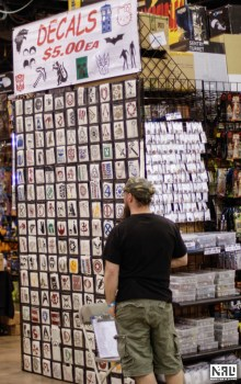 Wizard World Chicago Comic-Con 2013 retail display. Photo by Adron Buske. Copyright 2013 Nerd For A Living.