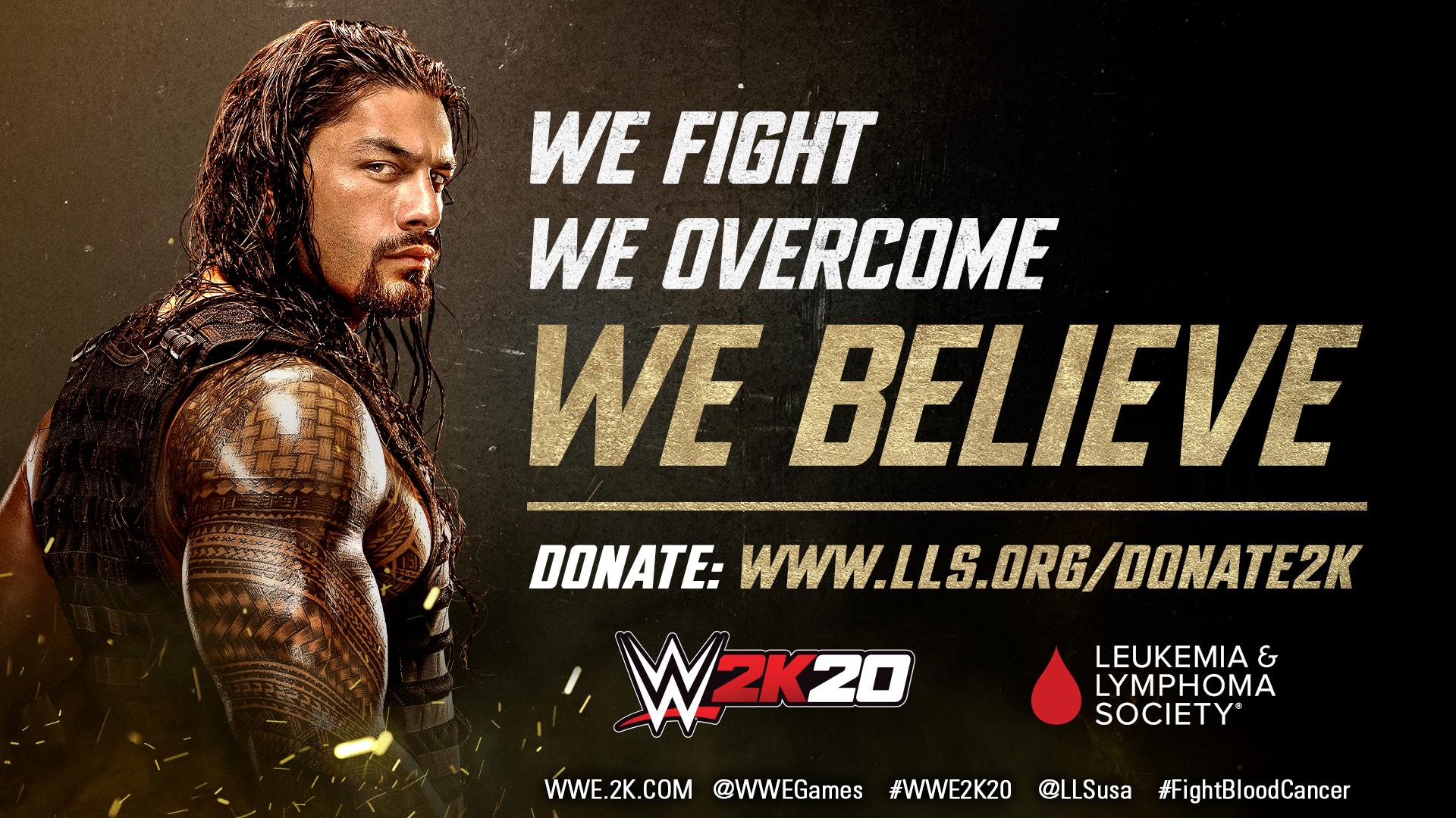 WWE 2K – global partnership with The Leukemia & Lymphoma