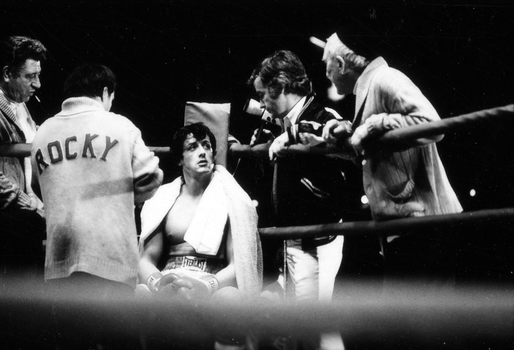 Fotografia mostra parte das filmagens do filme Rocky (1976)