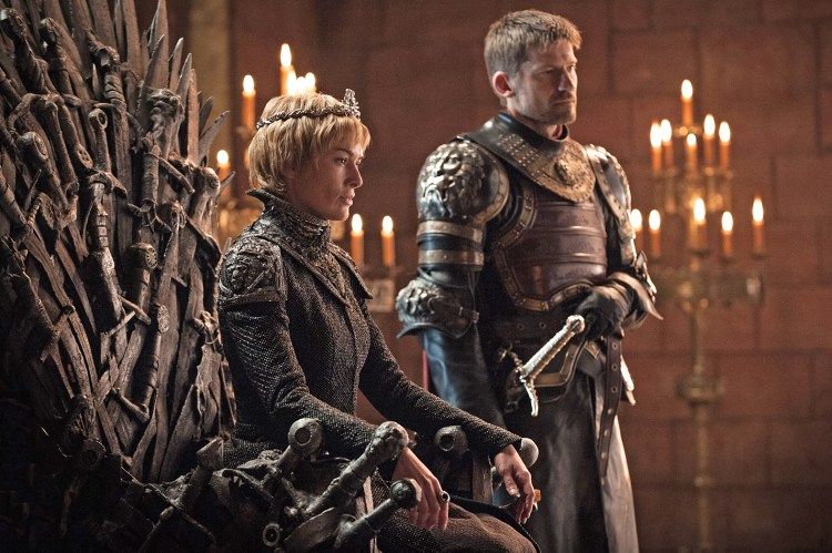 Cersei Lannister (Lena Headey) e Jaime Lannister (Nikolaj Coster-Waldau)