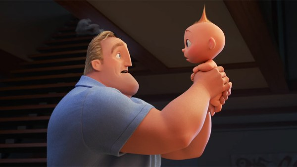 Mr. Incredible & jack Jack in The Incredibles 2
