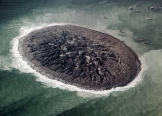 Terremoto cria ilha no oceano