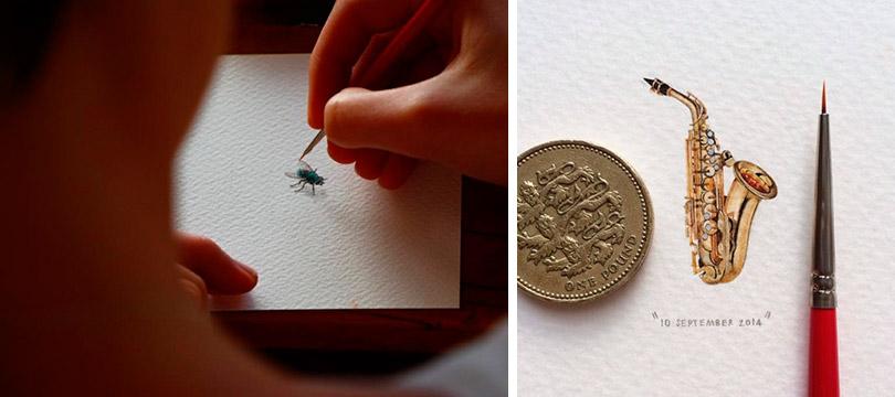 As micro pinturas de Lorraine Loots