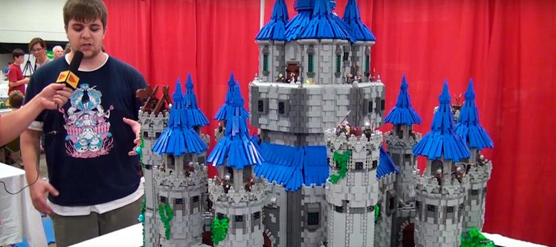 Jovem recria castelo de Zelda com LEGO