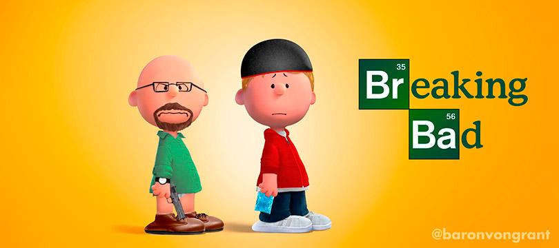 Artista recria vários famosos seriados como Peanuts
