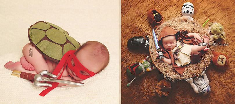 18 bebês geeks recém-nascidos