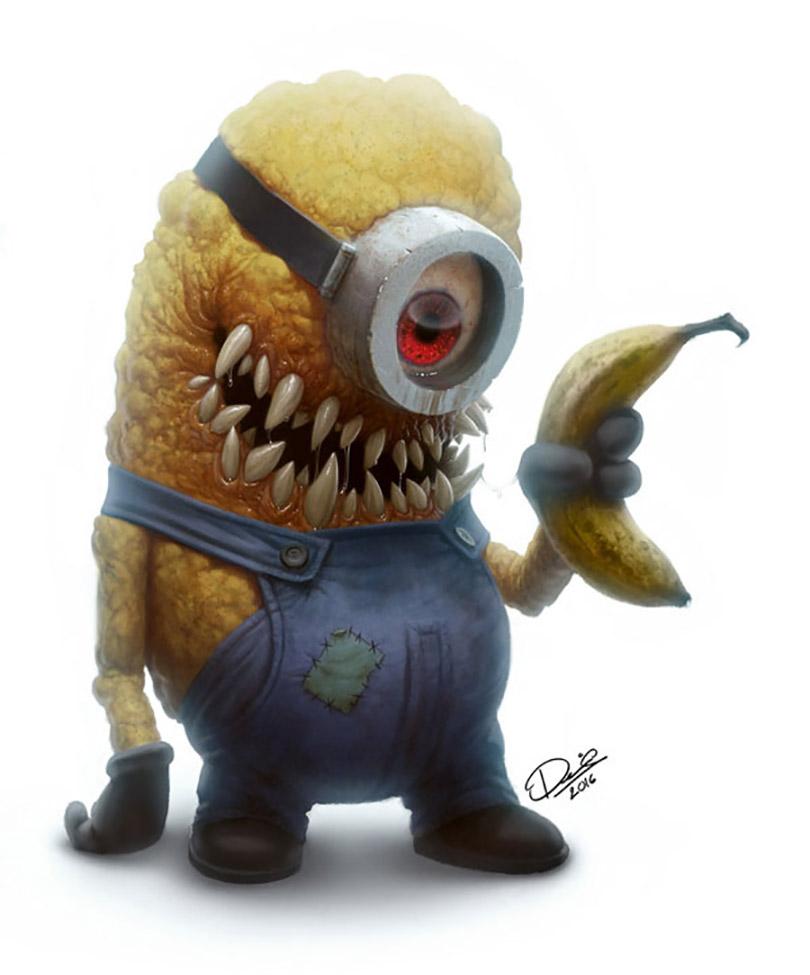 Artista transforma personagens infantis em criaturas horrendas