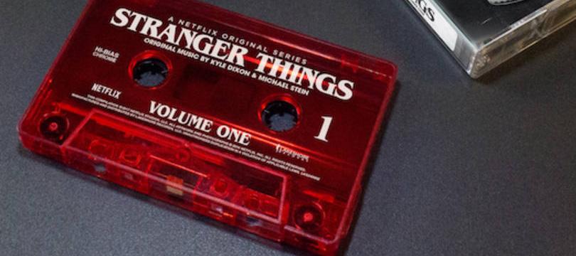 Trilha sonora de Stranger Things em fita cassete!