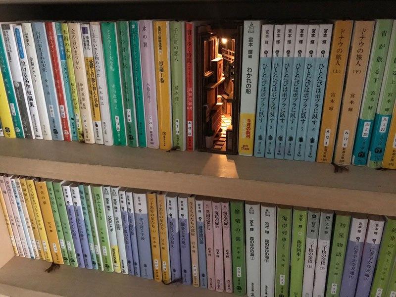 Artista cria belos separadores de livros de vielas